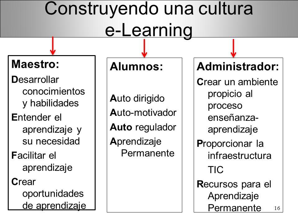 Construyendo una cultura e-Learning