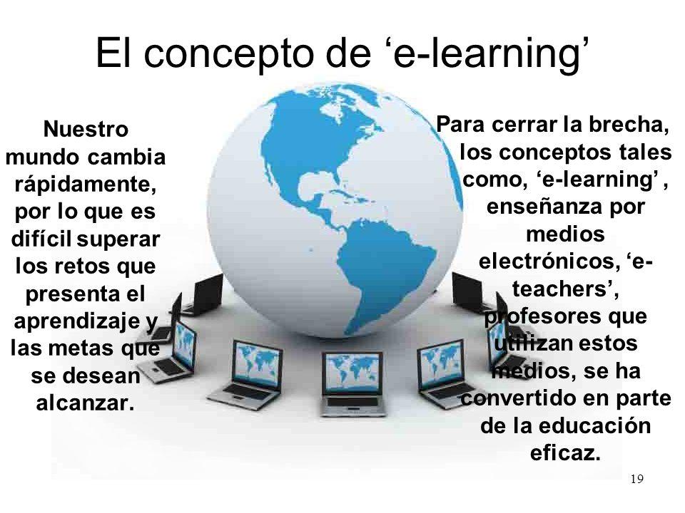 El concepto de 'e-learning'