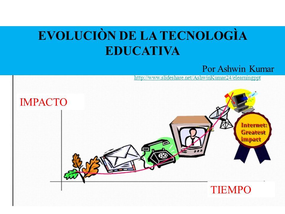 EVOLUCIÒN DE LA TECNOLOGÌA EDUCATIVA