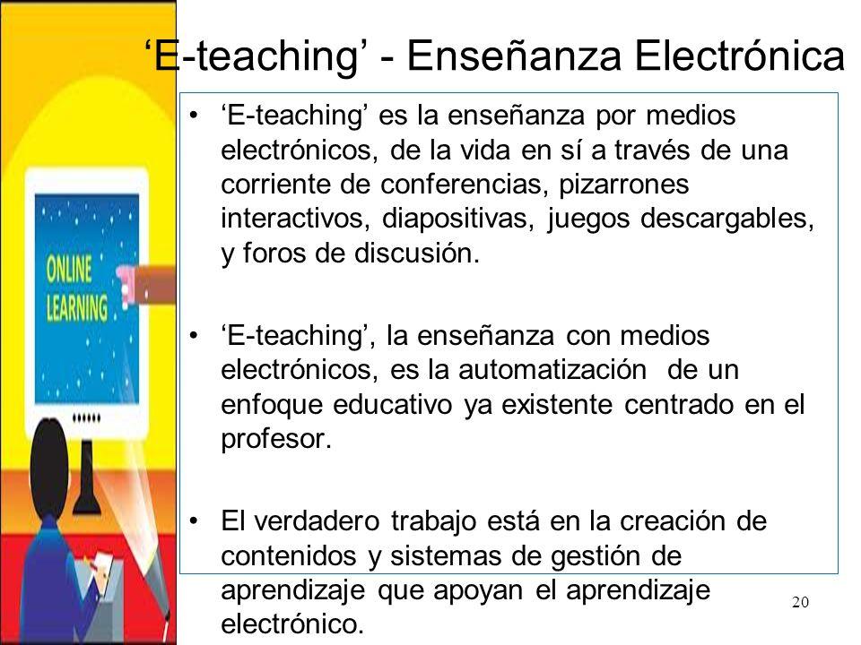 'E-teaching' - Enseñanza Electrónica