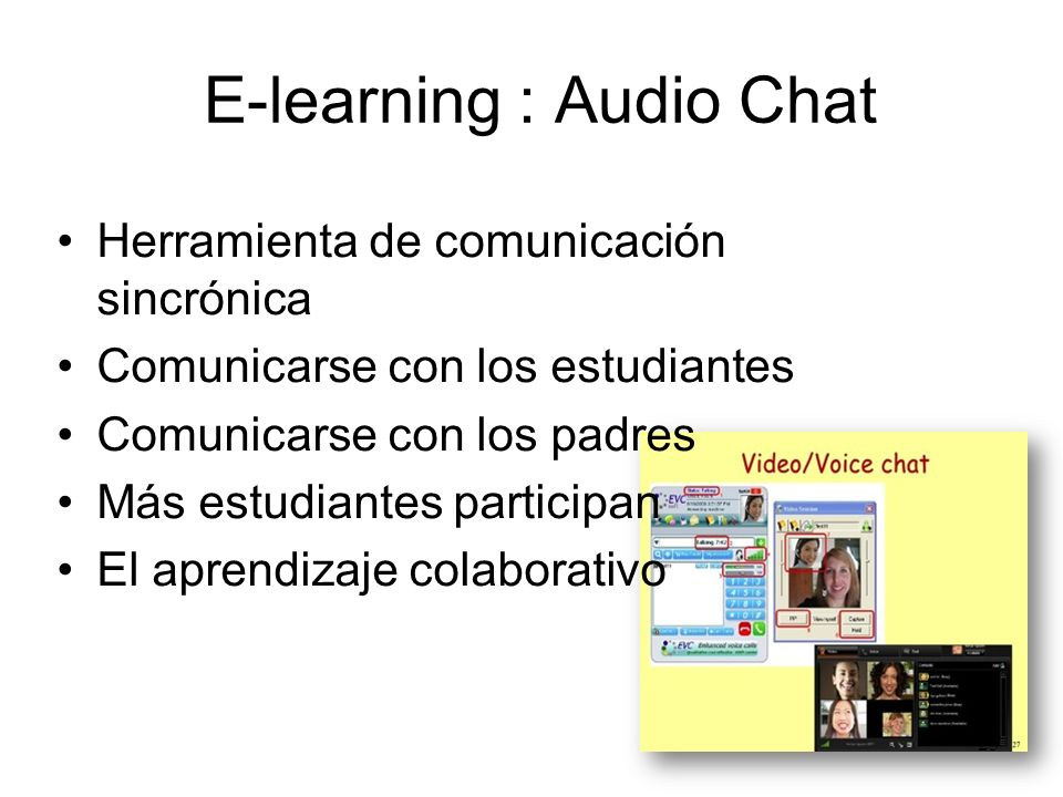 E-learning : Audio Chat