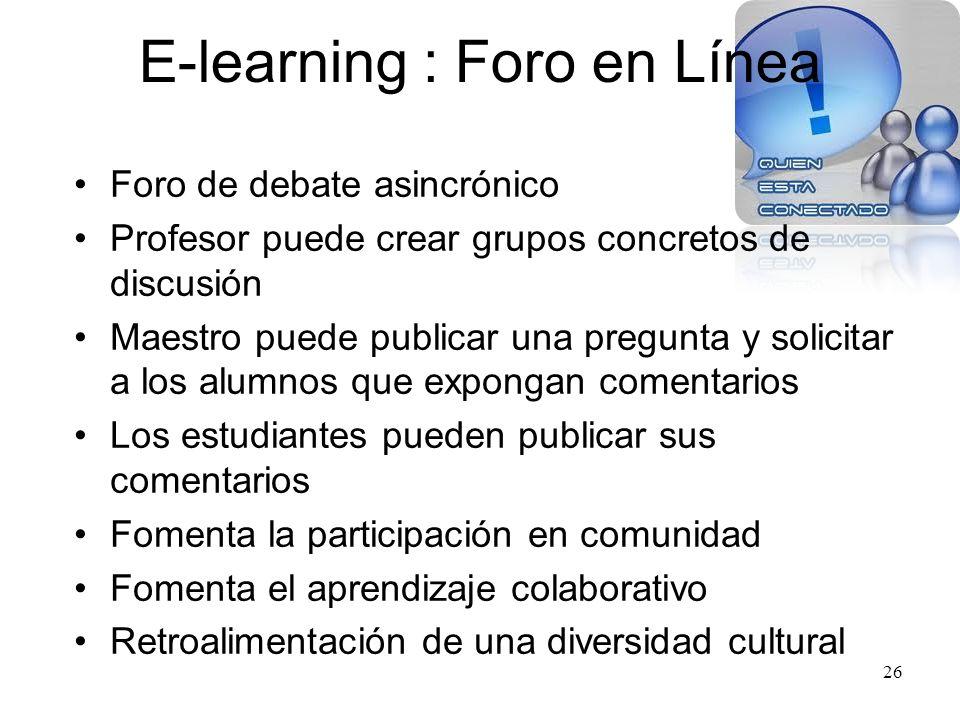 E-learning : Foro en Línea