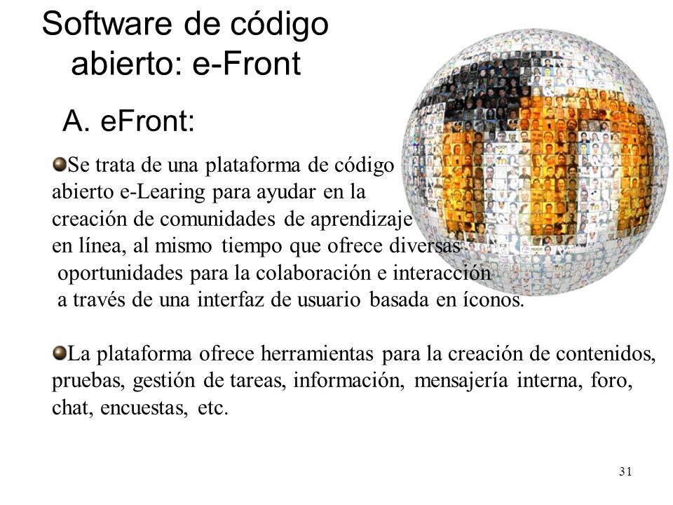 Software de código abierto: e-Front