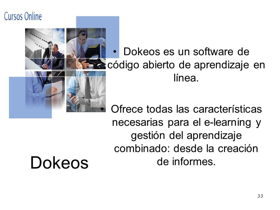 Dokeos es un software de código abierto de aprendizaje en línea.