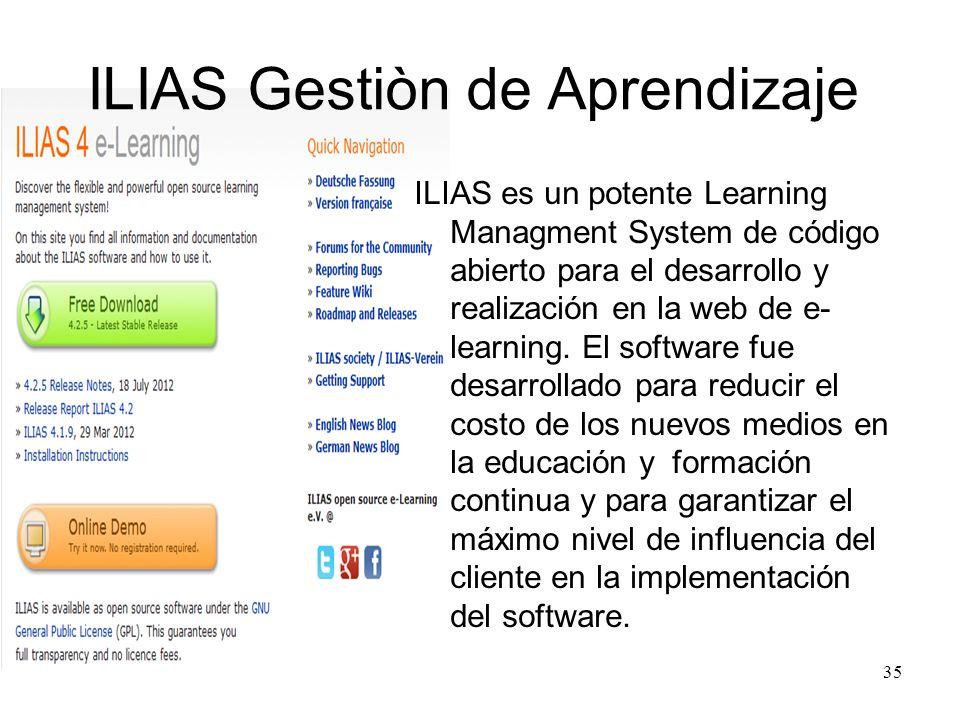 ILIAS Gestiòn de Aprendizaje