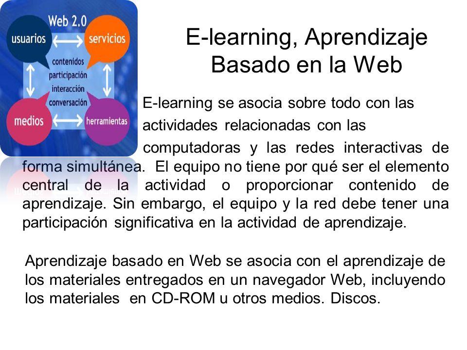 E-learning, Aprendizaje Basado en la Web
