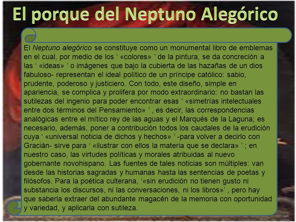 El porque del Neptuno Alegórico