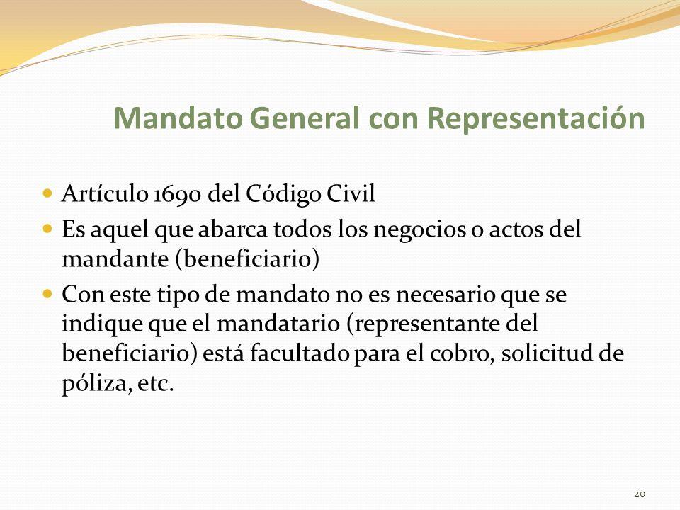 Mandato General con Representación