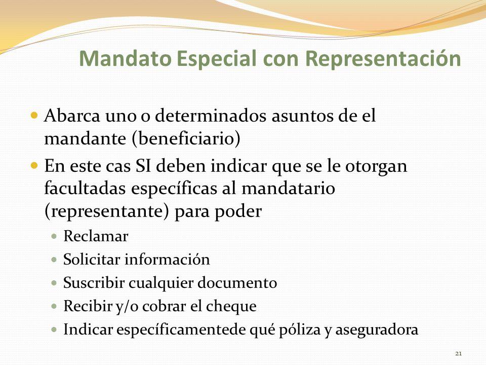 Mandato Especial con Representación