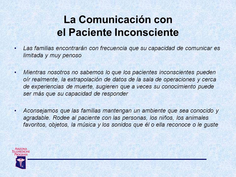 La Comunicación con el Paciente Inconsciente