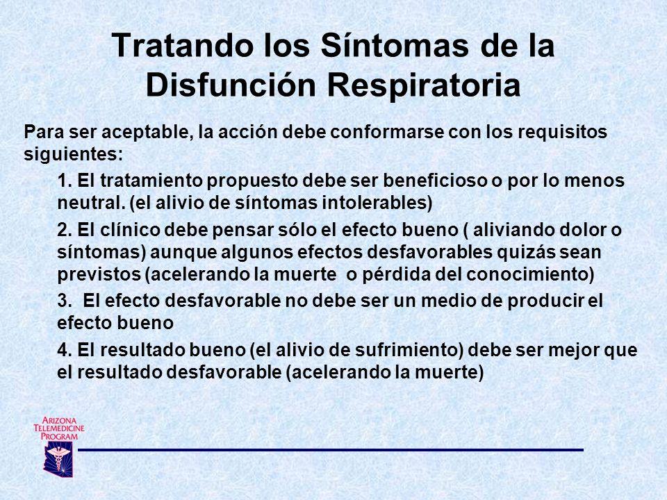Tratando los Síntomas de la Disfunción Respiratoria