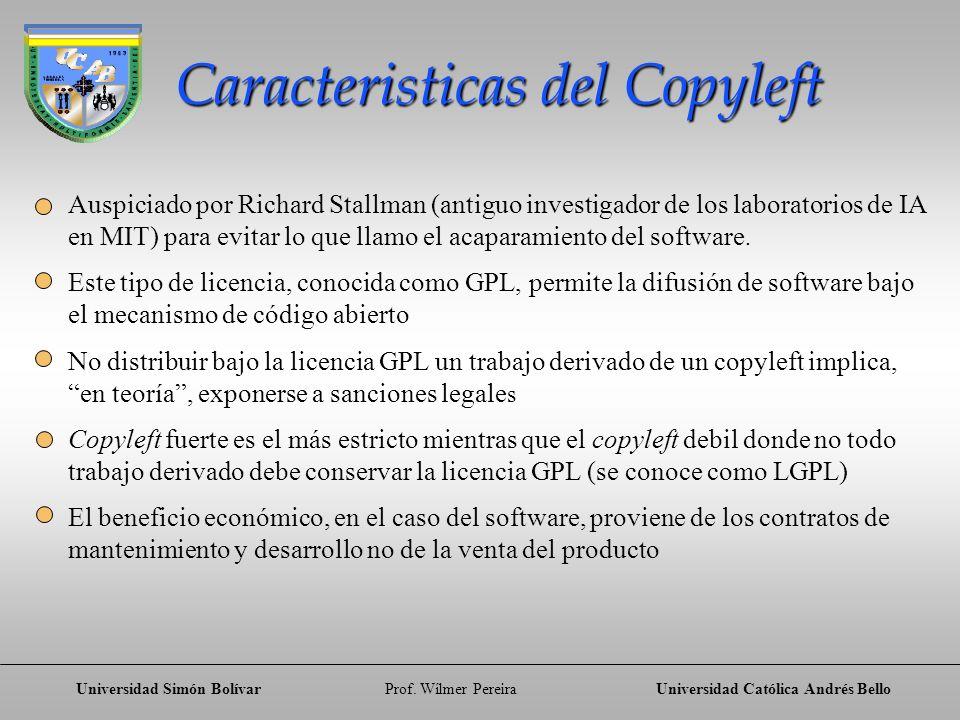 Caracteristicas del Copyleft