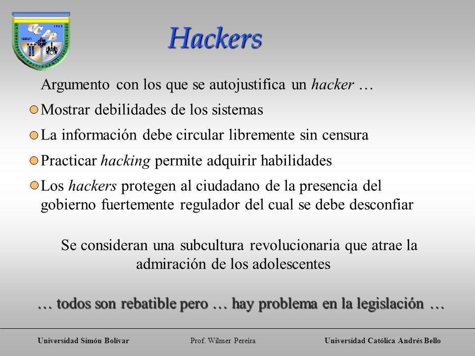 Hackers Argumento con los que se autojustifica un hacker …