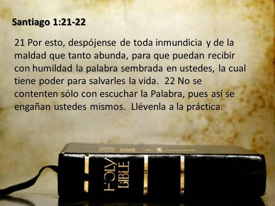 Santiago 1:21-22