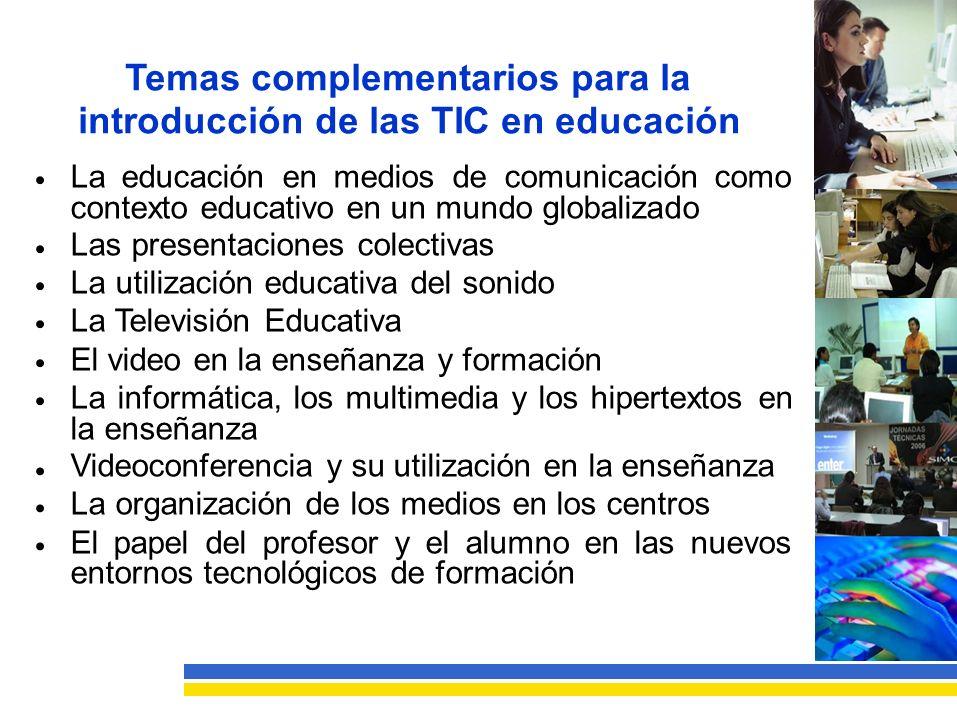 introducción de las TIC en educación