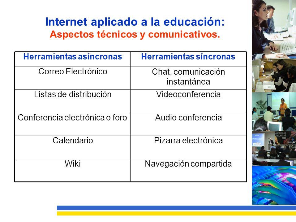 Internet aplicado a la educación: Aspectos técnicos y comunicativos.