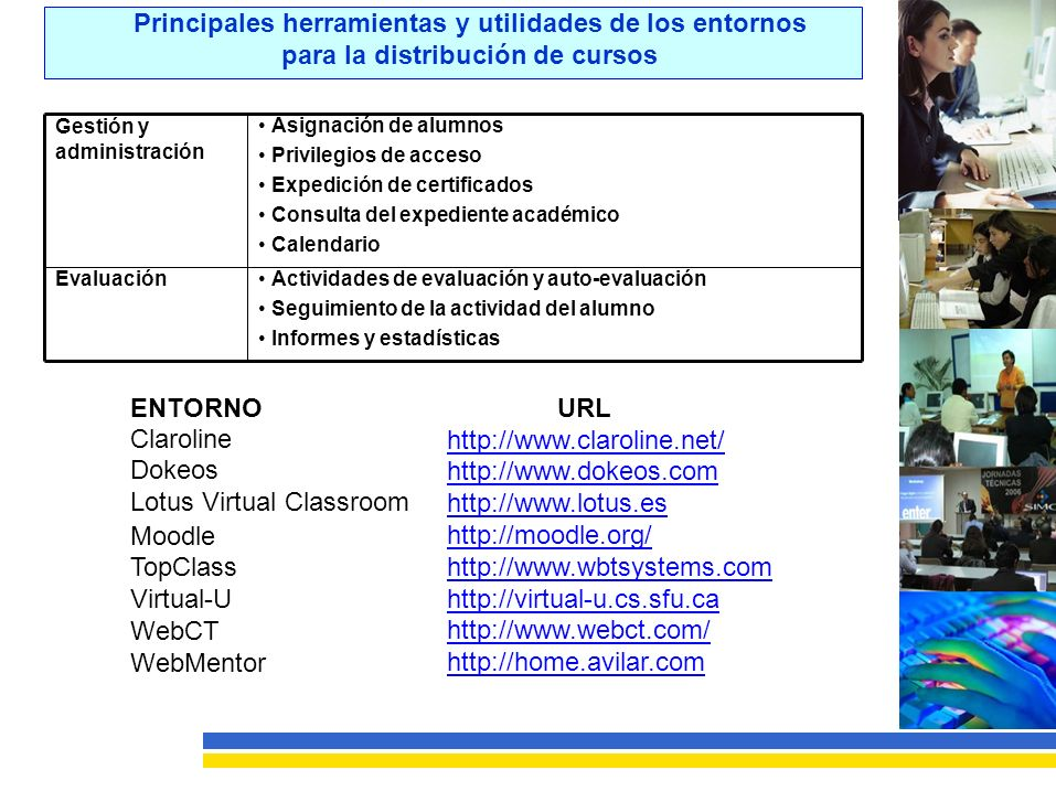 Lotus Virtual Classroom Moodle TopClass Virtual-U WebCT WebMentor URL