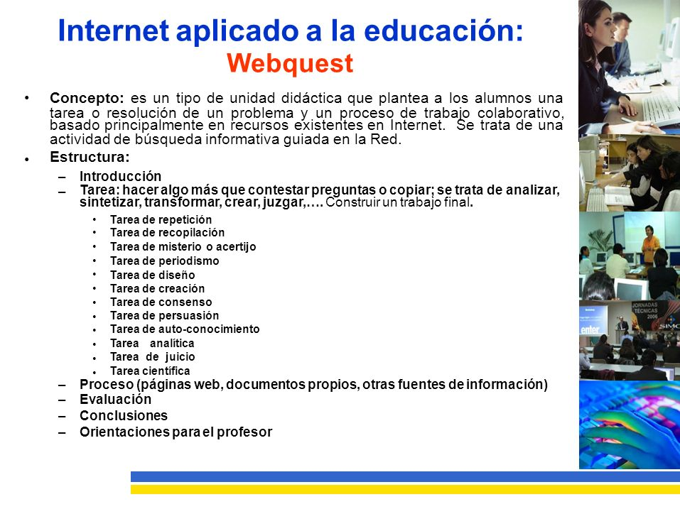 Internet aplicado a la educación: