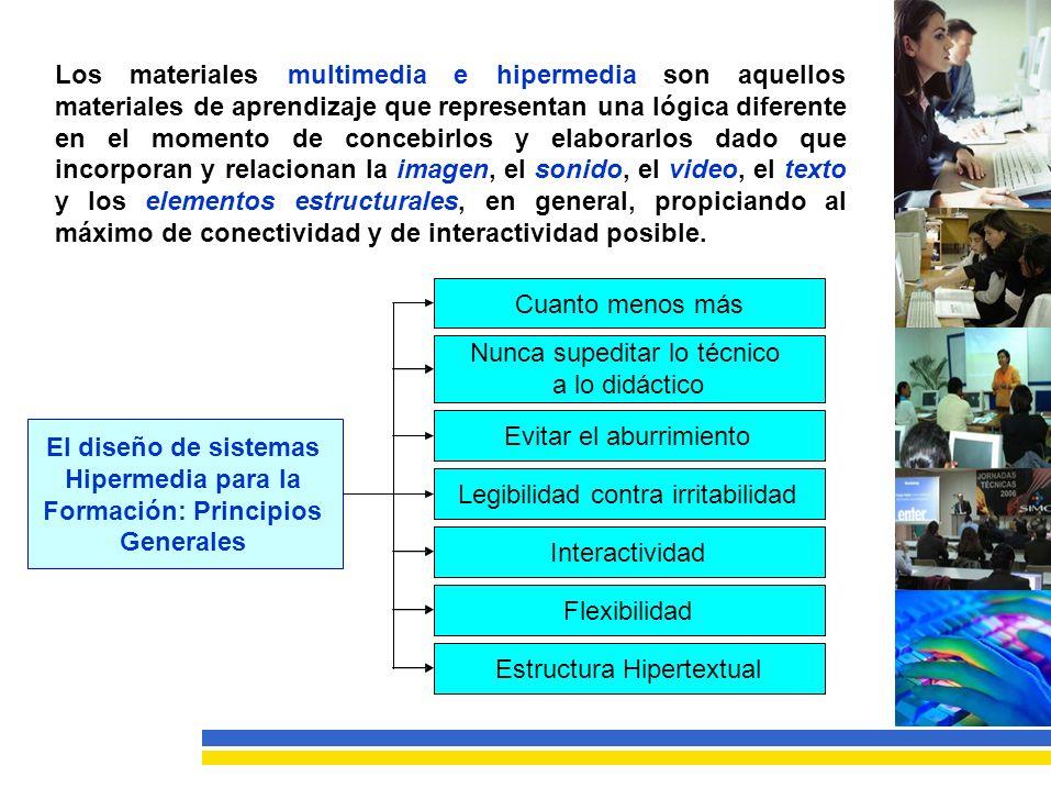 Los materiales. multimedia e. hipermedia son aquellos. materiales de aprendizaje que representan una lógica diferente.