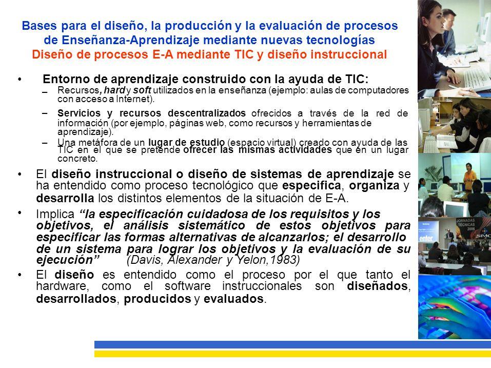 Diseño de procesos E-A mediante TIC y diseño instruccional
