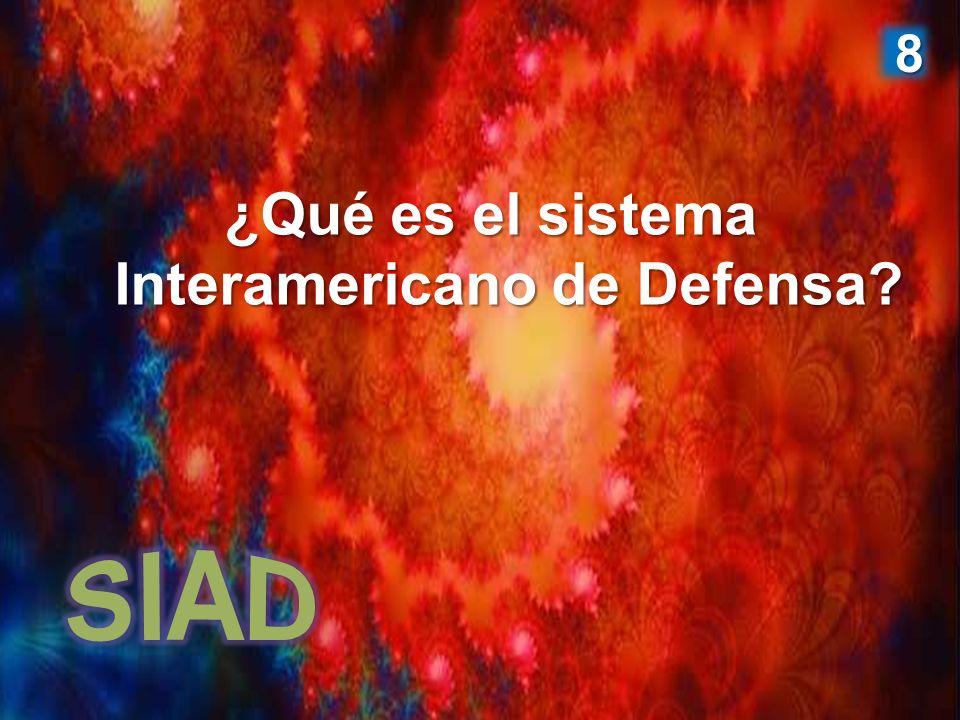¿Qué es el sistema Interamericano de Defensa