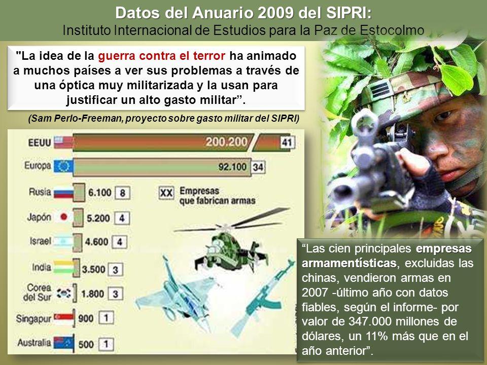 Datos del Anuario 2009 del SIPRI: