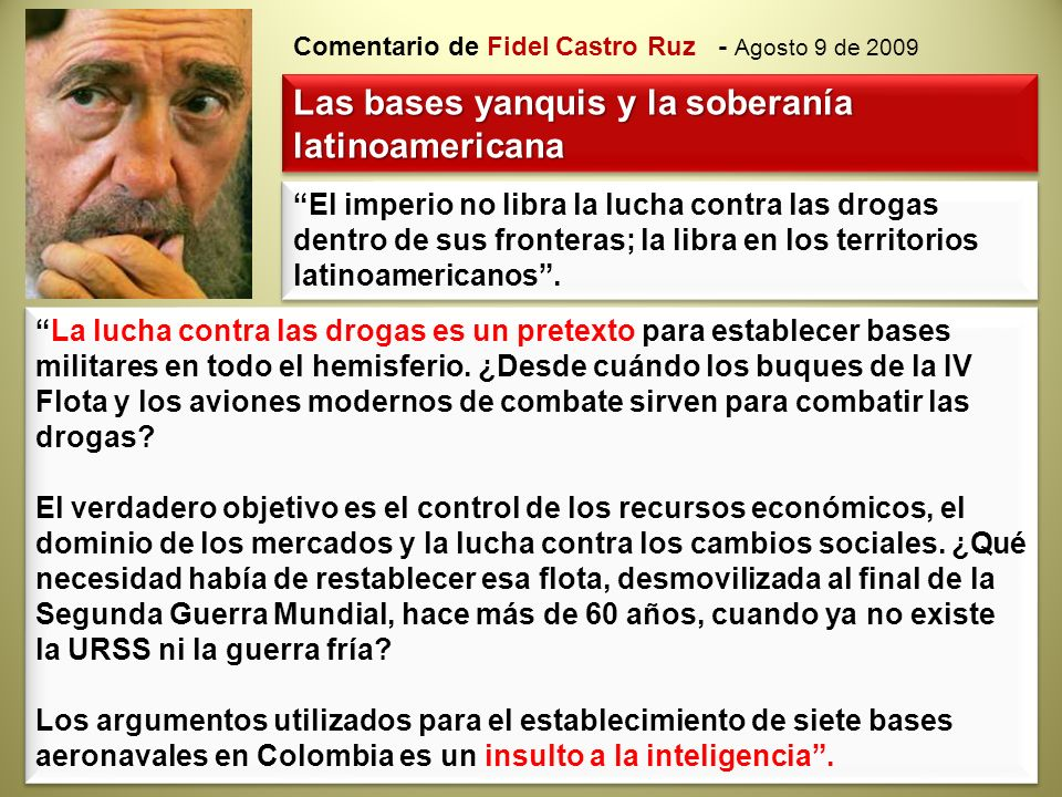 Las bases yanquis y la soberanía latinoamericana