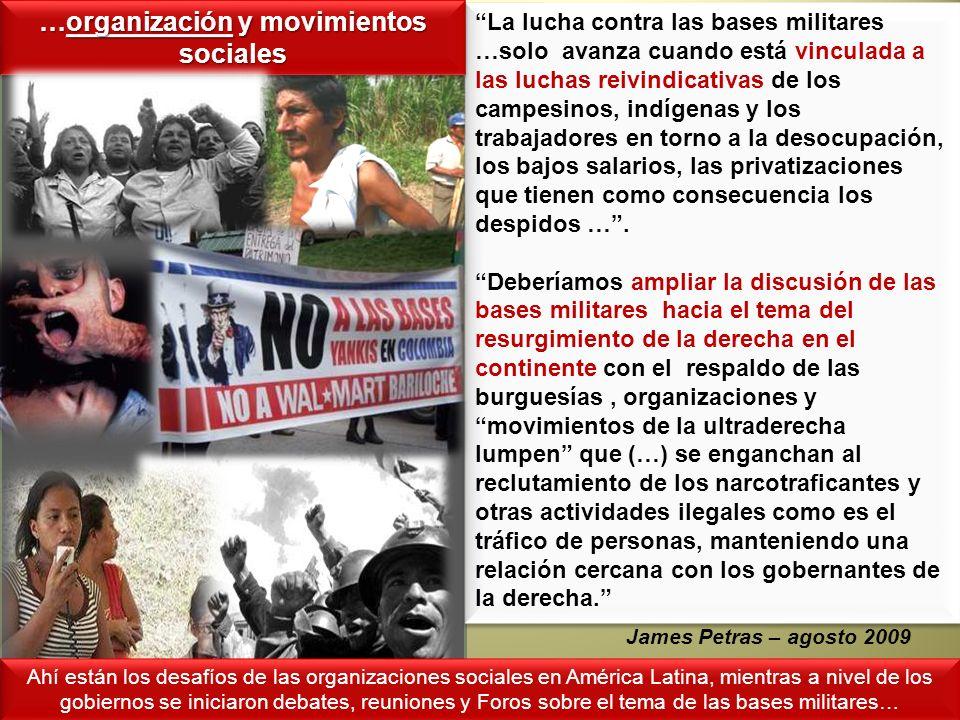 …organización y movimientos sociales