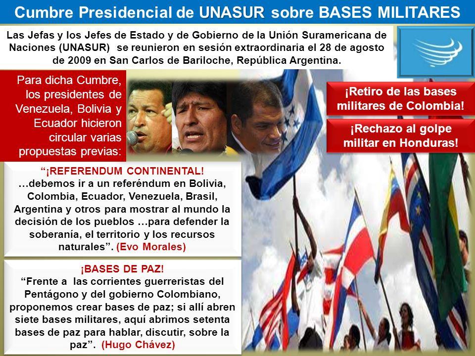 Cumbre Presidencial de UNASUR sobre BASES MILITARES