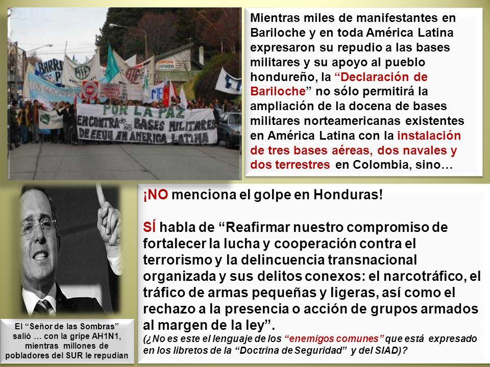 ¡NO menciona el golpe en Honduras!