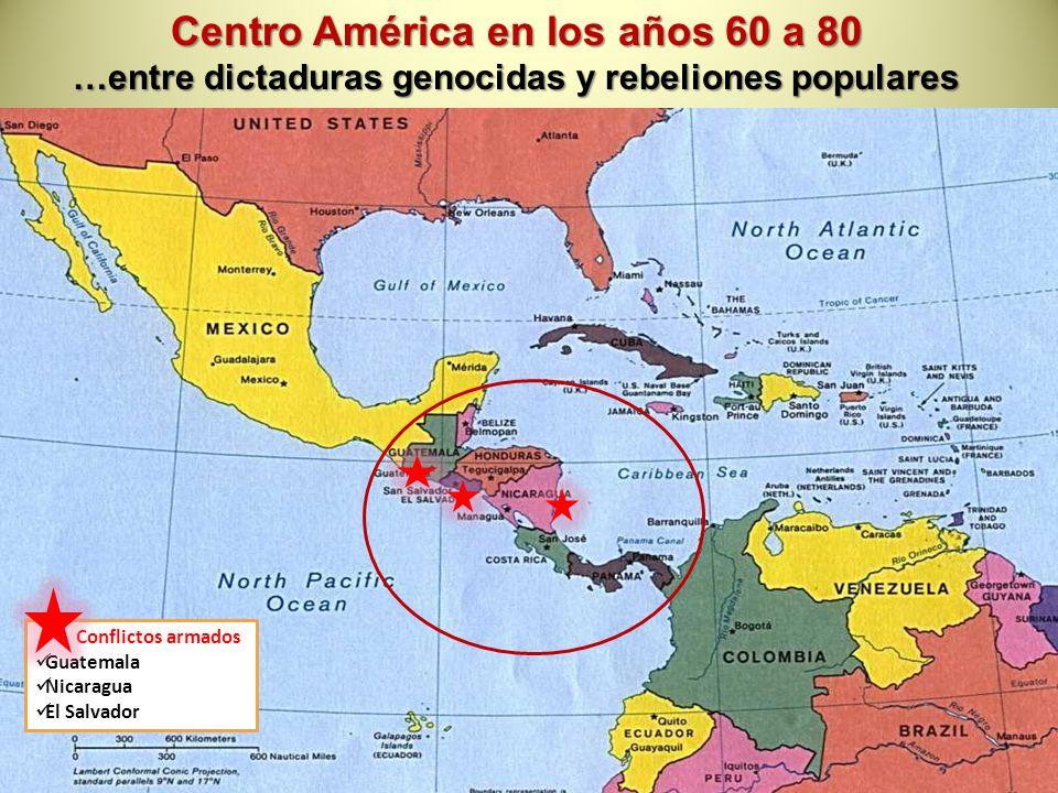 Centro América en los años 60 a 80