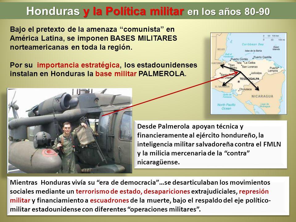 Honduras y la Política militar en los años 80-90