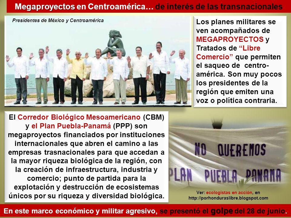 Megaproyectos en Centroamérica… de interés de las transnacionales