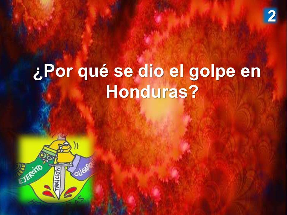 ¿Por qué se dio el golpe en Honduras