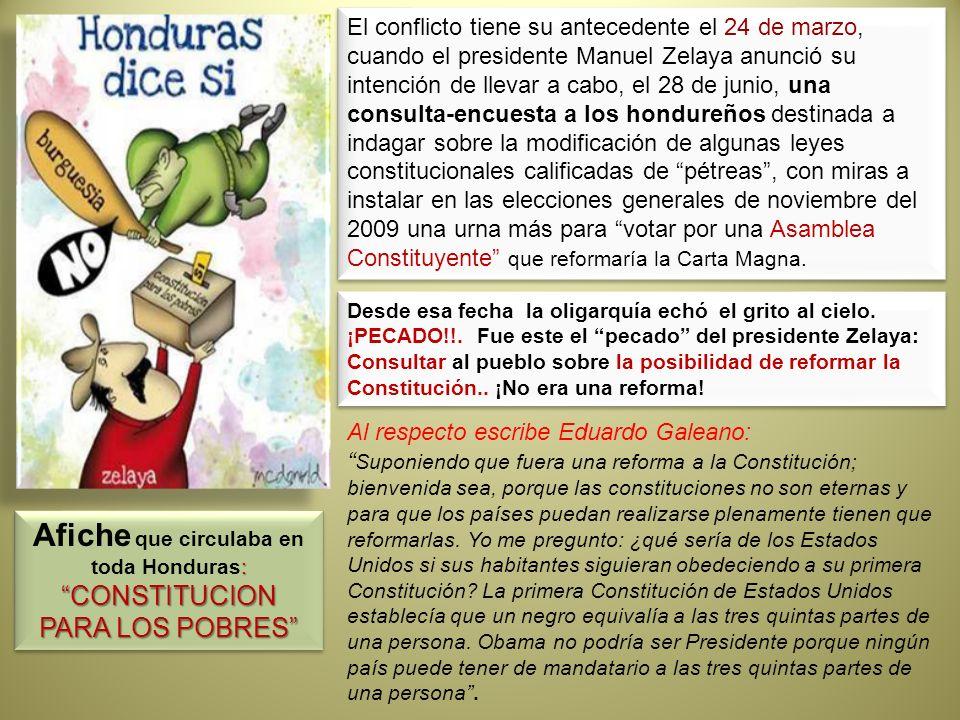 Afiche que circulaba en toda Honduras: