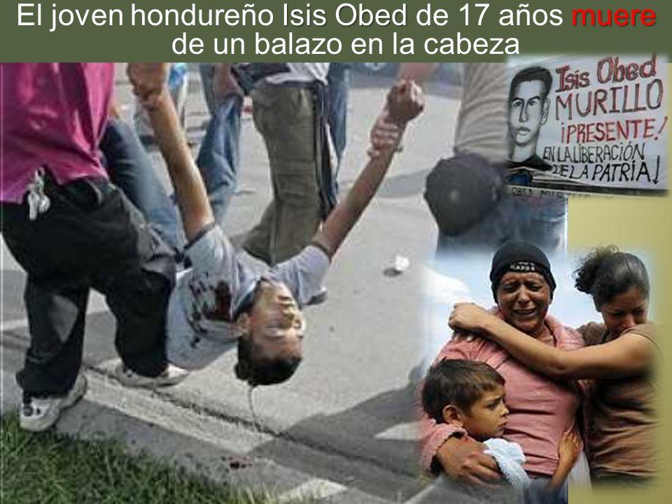 El joven hondureño Isis Obed de 17 años muere de un balazo en la cabeza