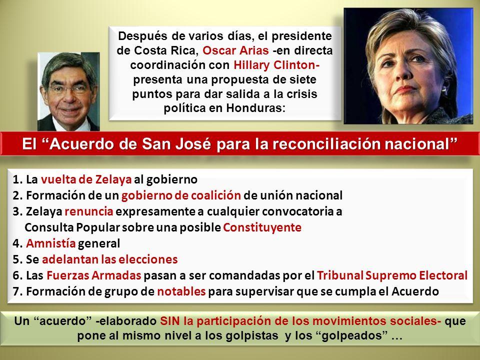 El Acuerdo de San José para la reconciliación nacional