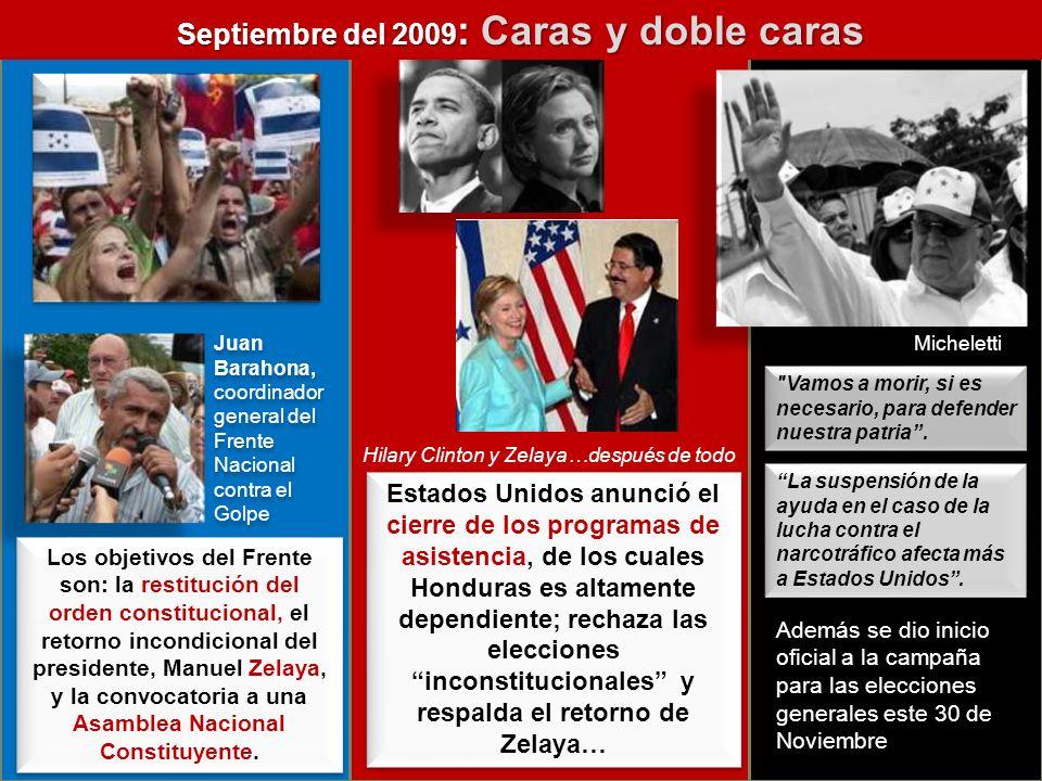 Septiembre del 2009: Caras y doble caras