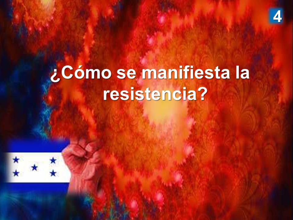 ¿Cómo se manifiesta la resistencia