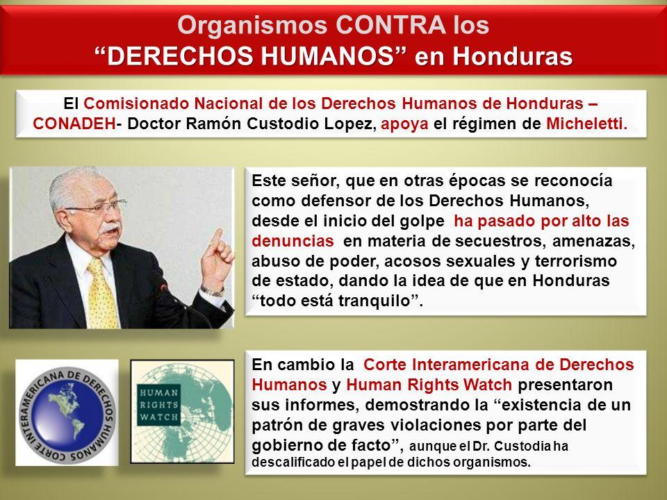 DERECHOS HUMANOS en Honduras