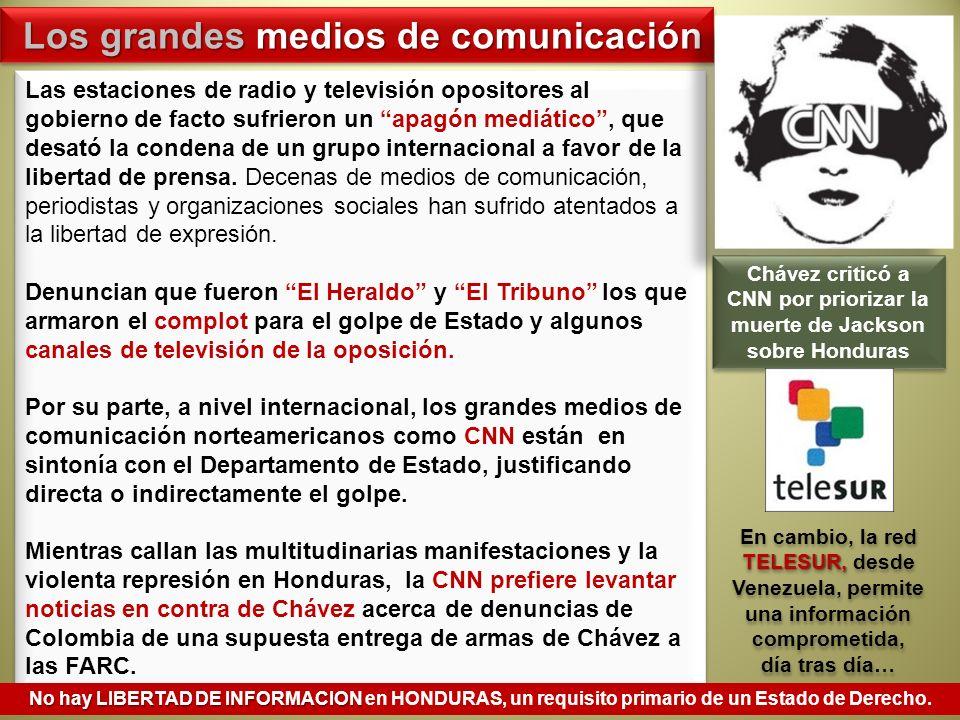 Chávez criticó a CNN por priorizar la muerte de Jackson sobre Honduras