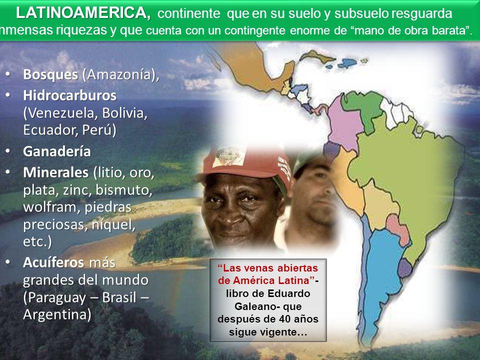 Hidrocarburos (Venezuela, Bolivia, Ecuador, Perú)