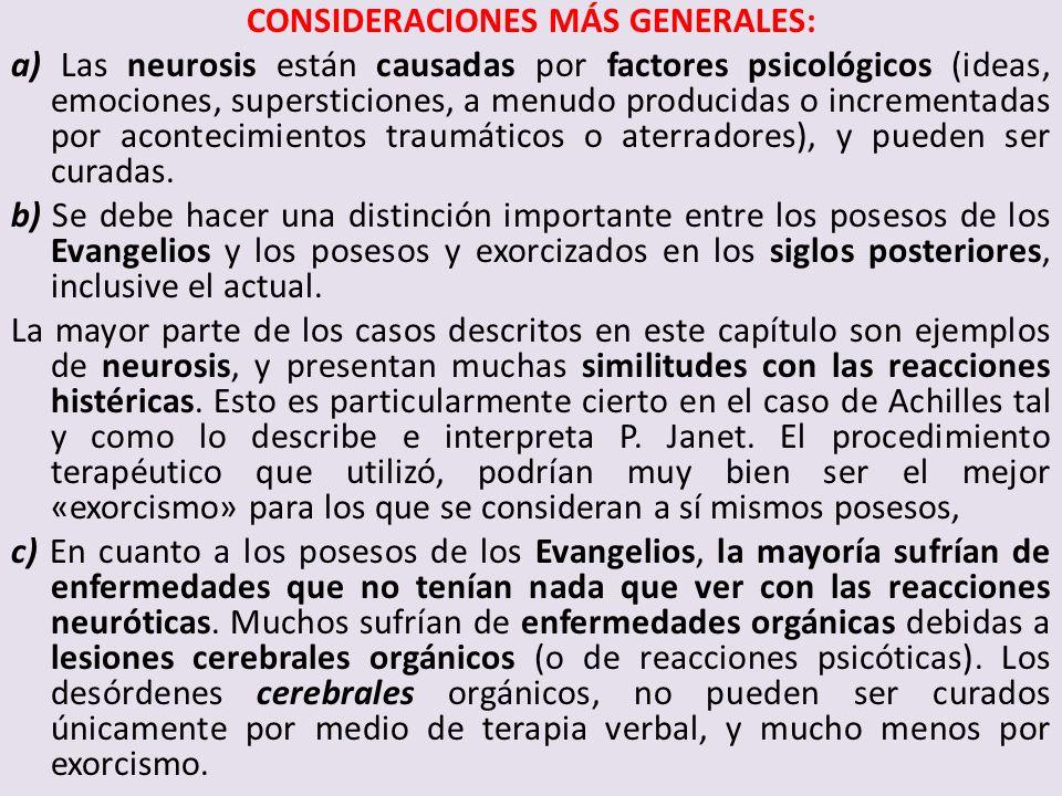 CONSIDERACIONES MÁS GENERALES:
