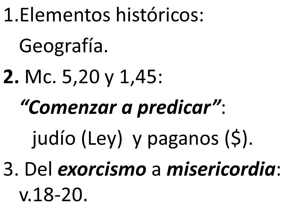 Elementos históricos:
