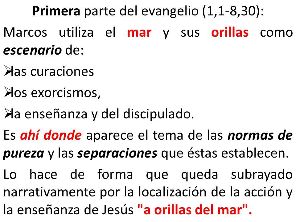 Primera parte del evangelio (1,1-8,30):