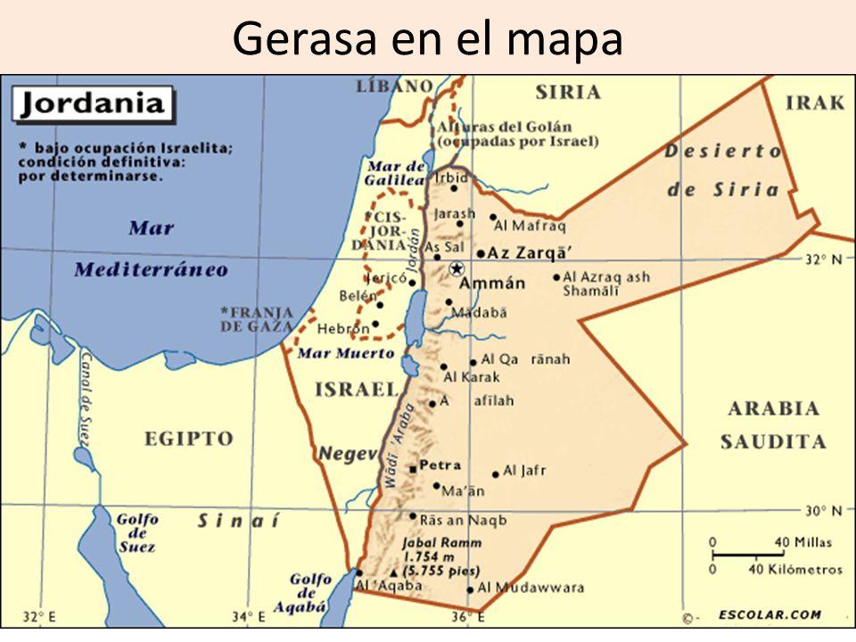 Gerasa en el mapa
