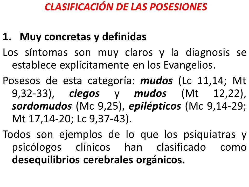 CLASIFICACIÓN DE LAS POSESIONES