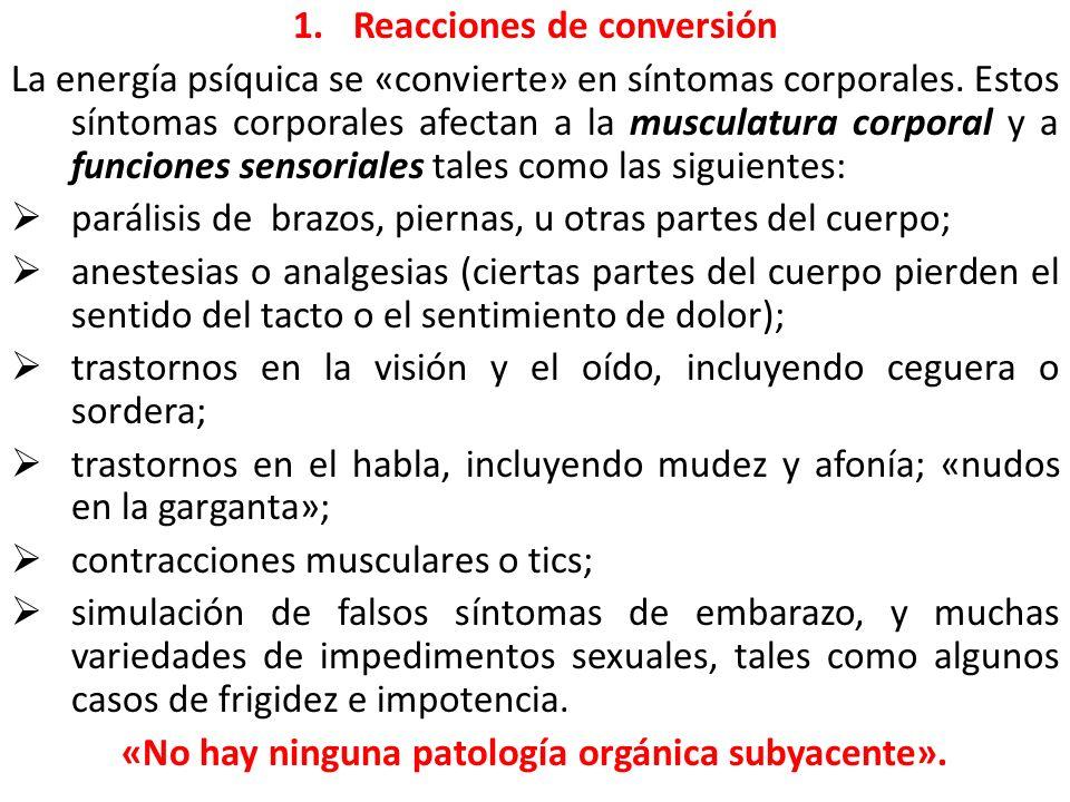 «No hay ninguna patología orgánica subyacente».