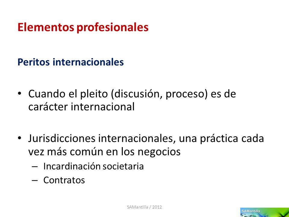 Elementos profesionales