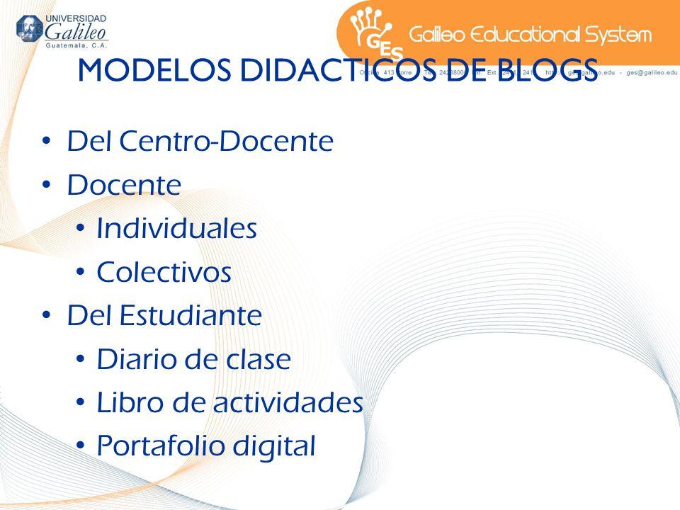 MODELOS DIDACTICOS DE BLOGS